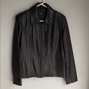Authentic Sonama REAL leather jacket dark brown